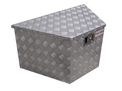 Aluminum trailer tongue toolbox