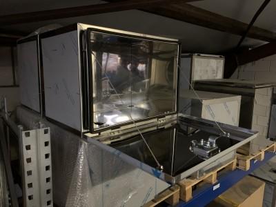 700x500x500 RVS 1,5mm spiegel