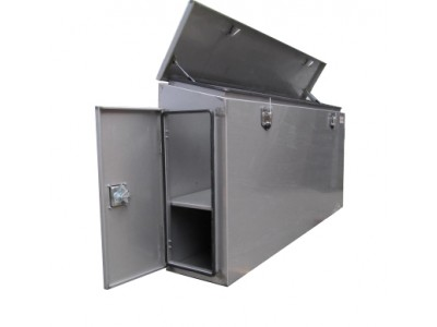 Stainless steel truck toolbox with doors